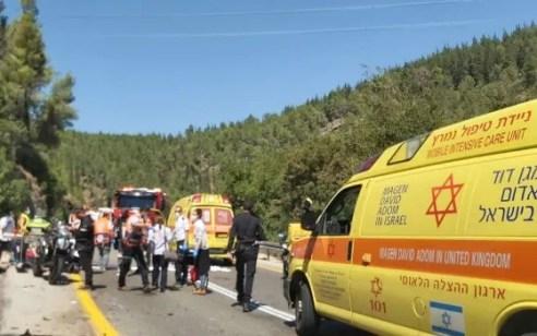 רוכב אופנוע כבן 25 נהרג בתאונה בתאונה בכביש 3866