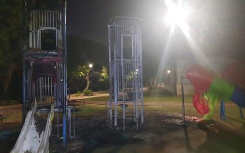 תושב ראש העין כבן 30 נעצר בחשד להצתת גינה ציבורית בעיר