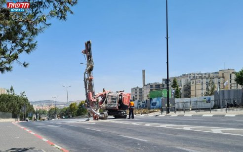 הבולען שנפער סמוך לשערי צדק: מהנדסים עורכים בדיקות קרקע מקיפות – רחובות באיזור נסגרו