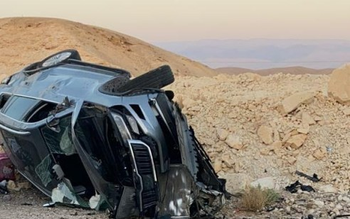הקטל בכבישים: גבר כבן 25 נהרג ועשרה נפצעו בתאונה עם מעורבות מספר כלי רכב בערבה