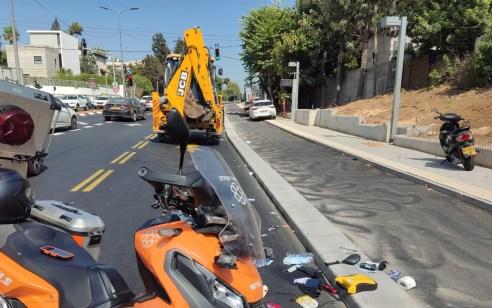 רוכב קטנוע כבן 25 נהרג בתאונה בתל אביב