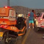 פצוע בינוני ו-5 קל בתאונה סמוך לחיזמא