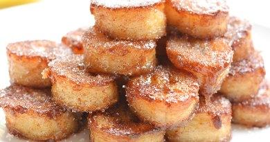 fried cinnamon bananas