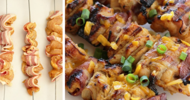Chicken Bacon Skewers