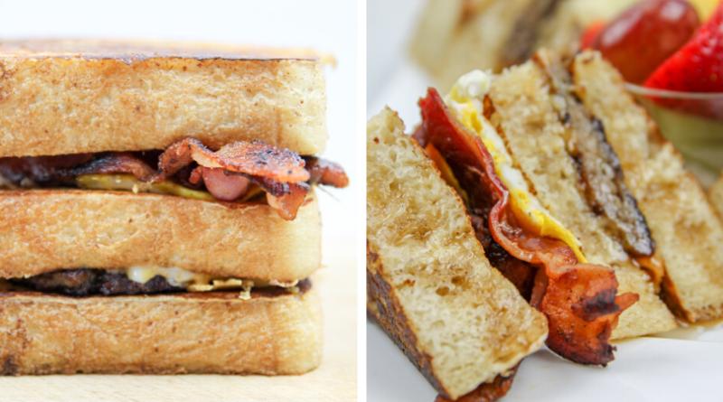 French Toast Club Sandwich