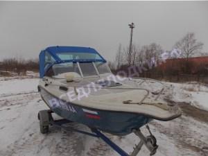 Тент с дугами для катера Флинт-531