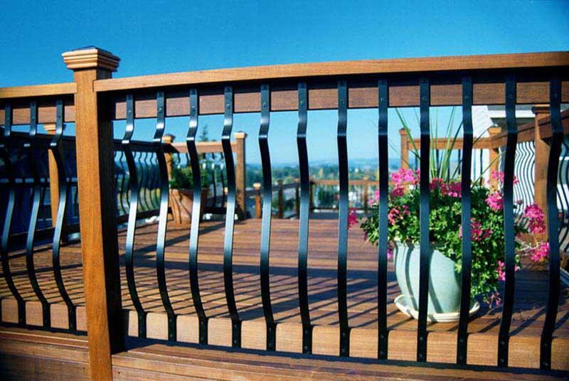 Metal Pickets Deck Railing