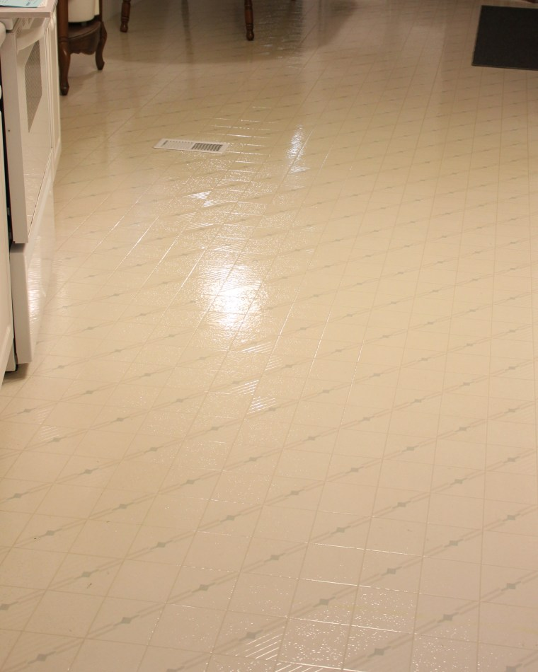 Clean And Shiny Kitchen Floor (My Dirty Little Secret