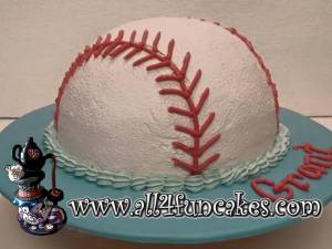 Baseball Smash Cake by All4Fun Cakes