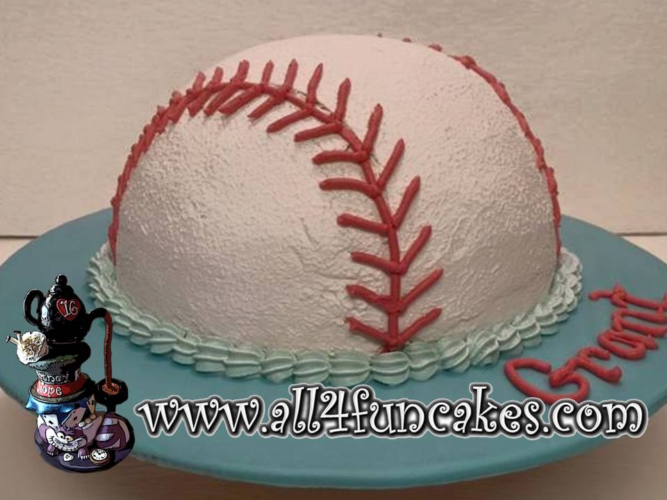 Baseball Smash Cake by All4Fun Cakes LLC