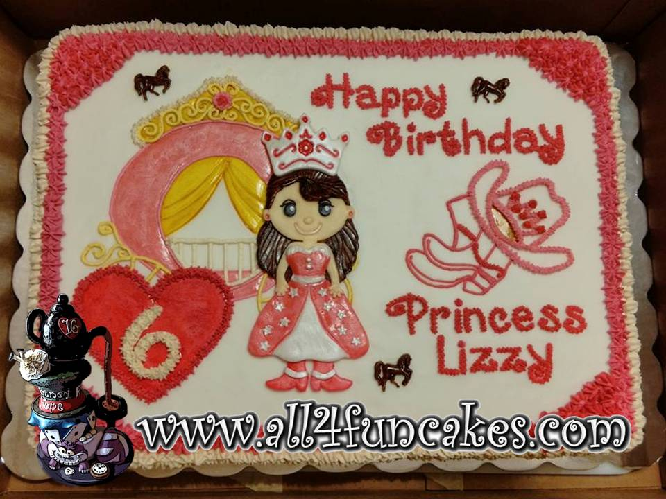 Cowgirl Princess Birthday Sheet Cake by All4Fun Cakes