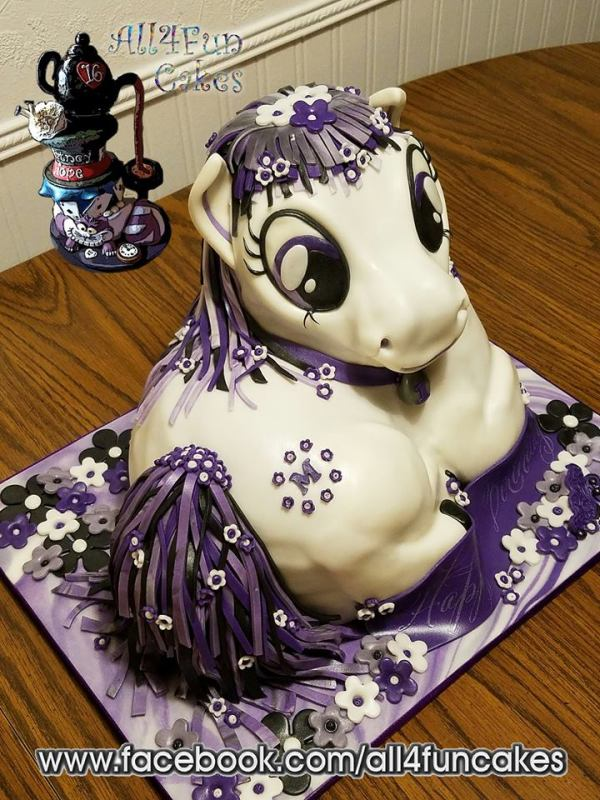 Sculpted Purple Pony Birthday Cake - All4Fun Cakes