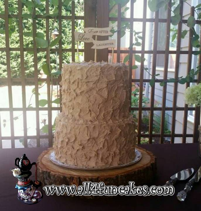 Simply Snickerdoodle Wedding Anniversary Cake - Toppers provided by Bride - All4Fun Cakes LLC