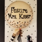Balloon Bridal Shower Special Occasion Cake to match party invitation by All4Fun Cakes LLC 2017