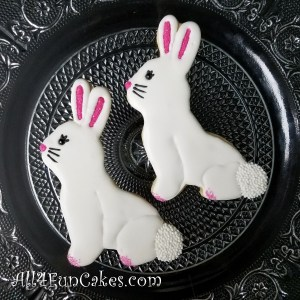 Easy Easter Bunny Bunnies Decorated Sugar Cookies by All4Fun Cakes LLC 2018