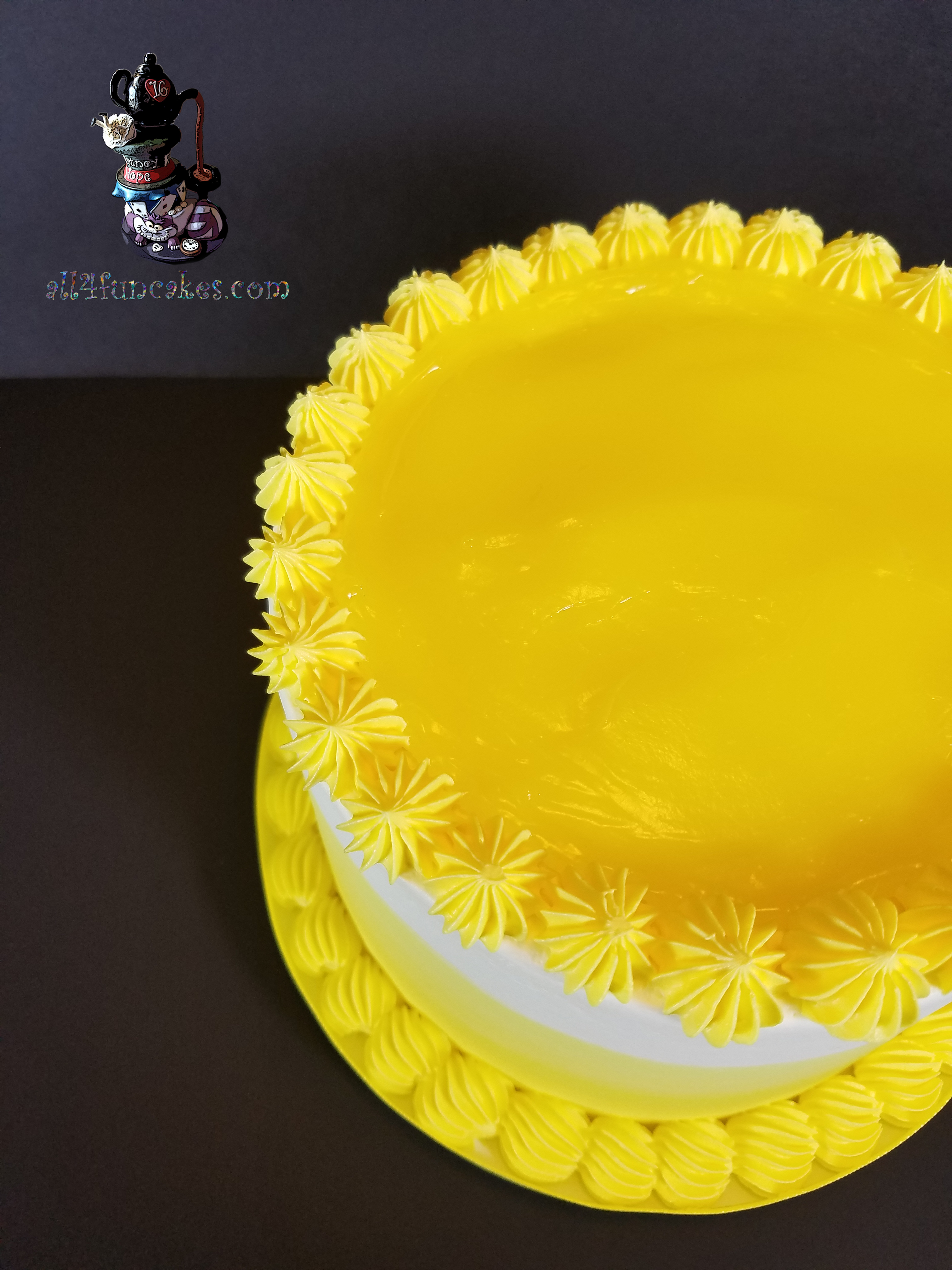 Birthday Holiday Party Luscious Lemon Anniversary Dessert Cake by All4Fun Cakes LLC 2017