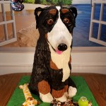 Noah the Bernese Mountain Dog Sculpted Wedding Rehearsal Cake by All4Fun Cakes LLC 2018