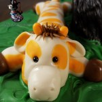 Giraffe Toy for Noah the Bernese Mountain Dog Sculpted Cake by All4Fun Cakes LLC 2018