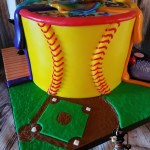 Special Occasion Softball Basketball Art MakeUp Hair Friends Birthday Cake by All4Fun Cakes LLC 2017