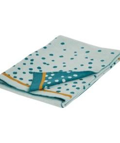 Done by Deer - Pletena odejica Happy dots, blue