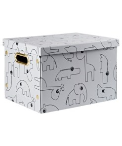 Done by Deer - zložljiva škatla za shranjevanje Contour, grey