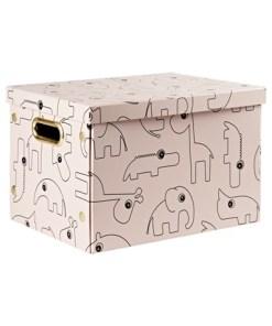 Done by Deer - zložljiva škatla za shranjevanje Contour, powder