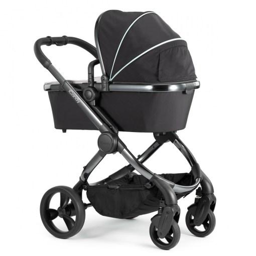 Otroški voziček 3v1 iCandy Peach, Beluga, kromirano ogrodje + Besafe® iZi Go Modular™, Fresh Black Cab 3