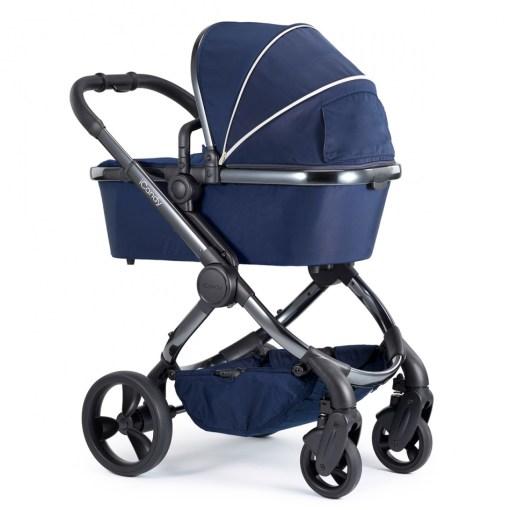 Otroški voziček iCandy New Peach_Indigo kromirano ogrodje_2