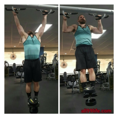 Wide Grip pull ups for upper lats