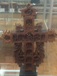 intricately carved crosses, and memorials to the Armenian genocide