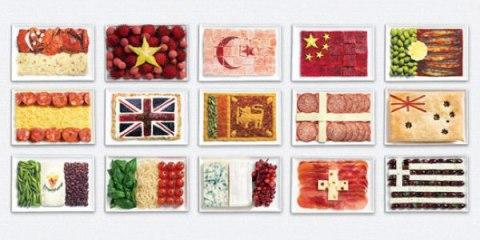 Εθνικές σημαίες από φαγητά