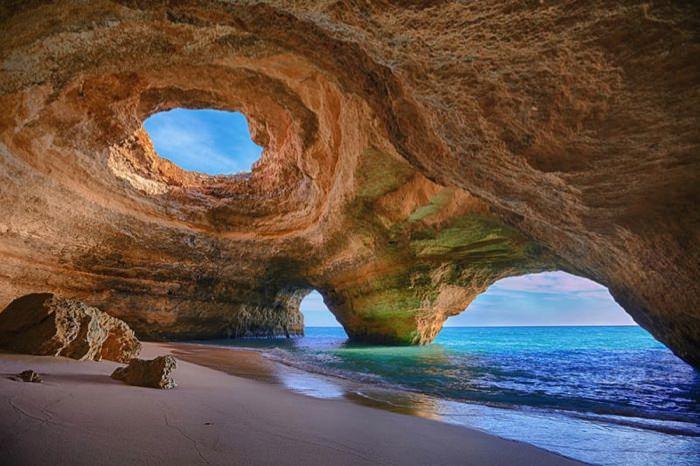 ομορφότερες σπηλιές του κόσμου Cave in Algarve, Portugal