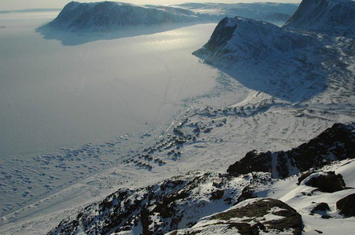 γραφικές χειμερινές πόλεις του κόσμου Grise Fjord, Canada