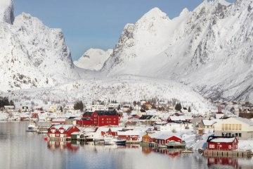 γραφικές χειμερινές πόλεις του κόσμου Reine Norway