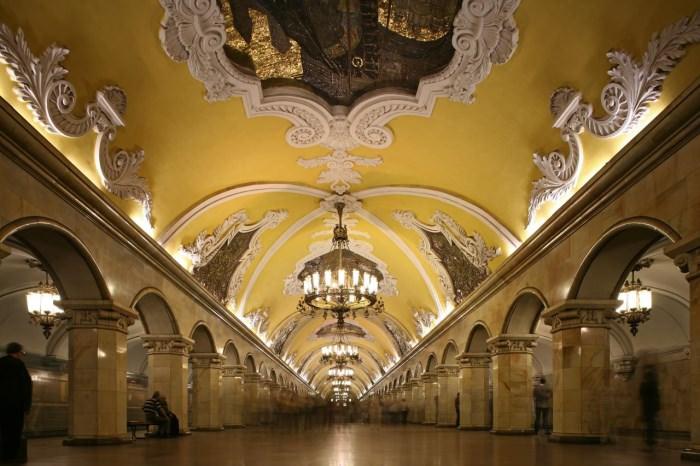 Πιο όμορφοι σταθμοί μετρό στον κόσμο Komsomolskaya Station