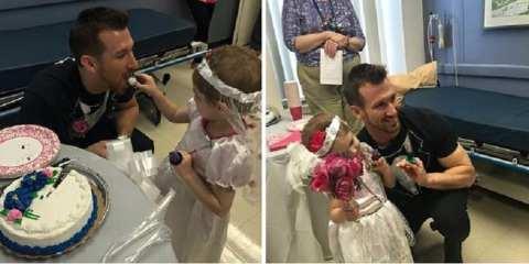 """Ο πιο συγκινητικός γάμος: 4χρονη καρκινοπαθής """"παντρεύτηκε"""" τον αγαπημένο της νοσηλευτή!"""