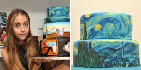 Κύπρια καλλιτέχνις αναπαριστά διάσημους πίνακες πάνω σε… τούρτες