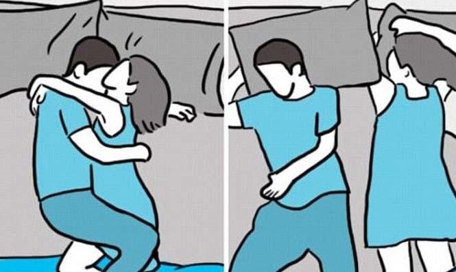 πως προτιμάς να κοιμάσαι με το έτερον ήμισυ να σου πω το πρόβλημά σας