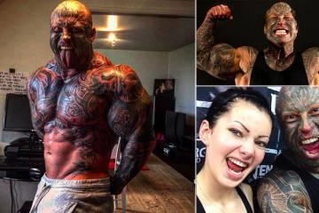 O Δανός αρσιβαρίστας με το παρατσούκλι «Θηρίο» που έχει 40 τατουάζ και 130 κιλά μύες!