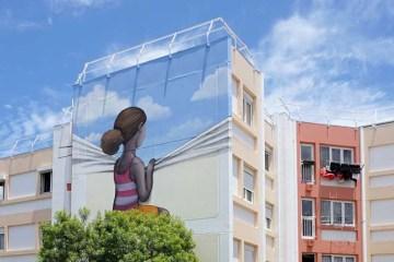 καλλιτέχνης μεταμορφώνει βαρετά κτήρια σε εντυπωσιακά έργα τέχνης