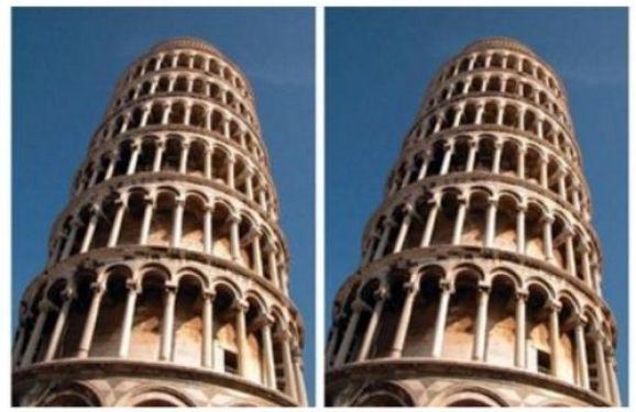 Ποιός από τους δύο πύργους της Πίζας φαίνεται να γέρνει περισσότερο;