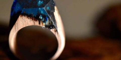 Εκπληκτικό ξύλινο δαχτυλίδι