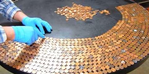 30 ευρώ σε κέρματα του 1 λεπτού