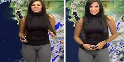 Το κολάν που «πρόδωσε» Μεξικανή παρουσιάστρια