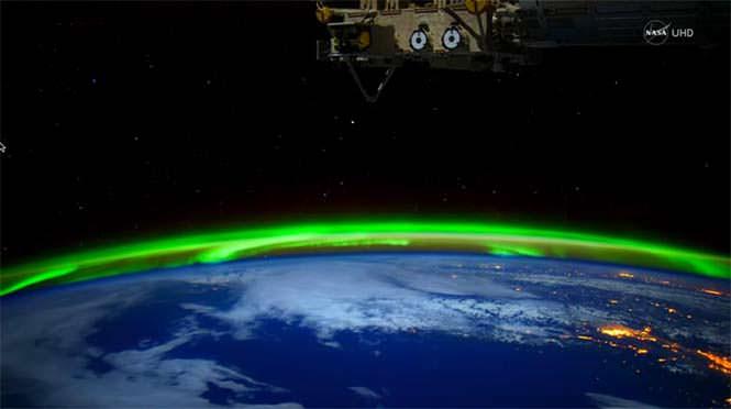 Βόρειο Σέλας από το διάστημα