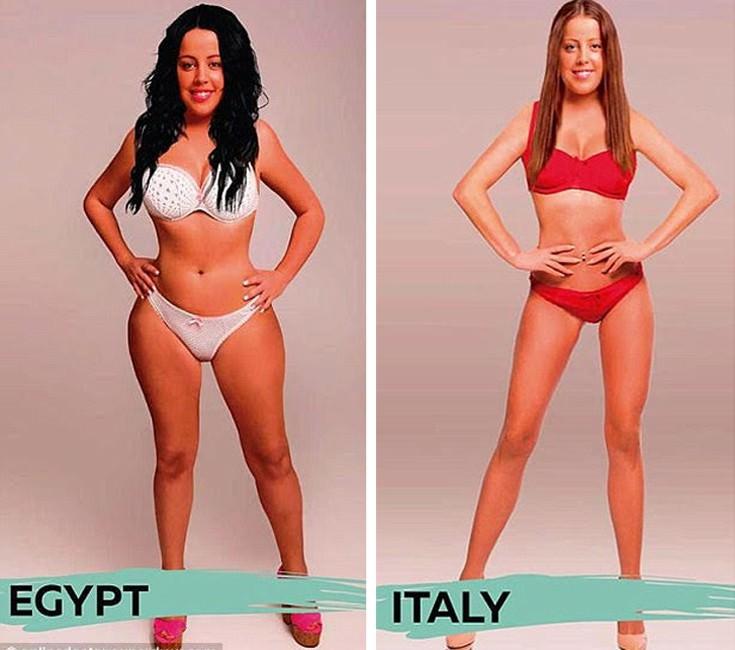 ιδανικό γυναικείο σώμα σε διάφορες χώρες