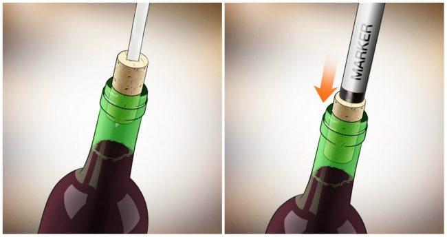 ανοίξετε ένα μπουκάλι κρασί ΧΩΡΙΣ ανοιχτήρι 7