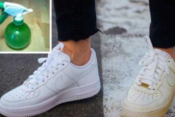 Καθαρίσετε τα Βρώμικα Λευκά Παπούτσια