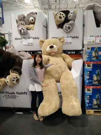 180元的193寸高的大熊!!!我姐姐買了上面的中熊給姨甥。