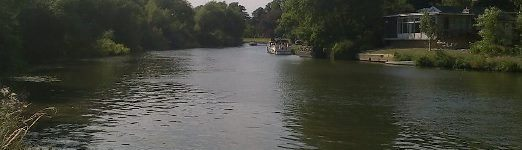 Looking upstream on the Thames from the north side of Desborough Island